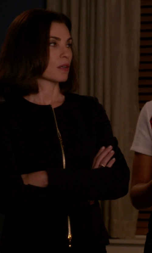 Julianna Margulies with Ted Baker Roxi Honeycomb Jacquard Suit Jacket in The Good Wife