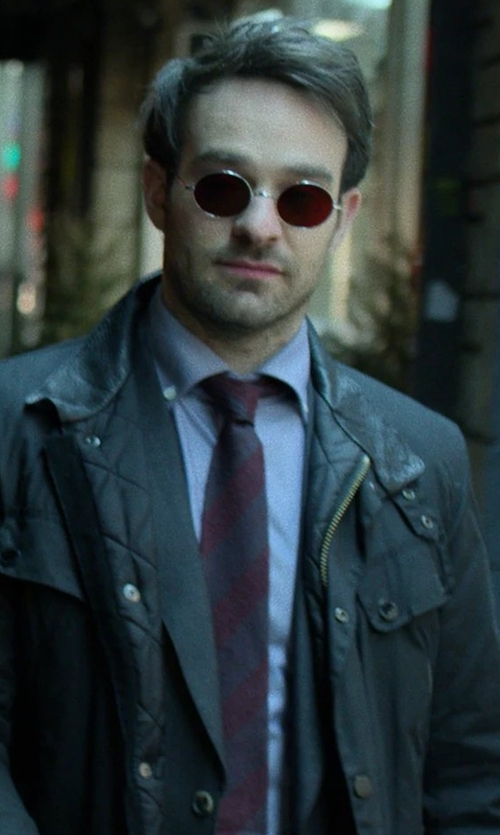 Charlie Cox with John Varvatos Star USA Stripe Silk Blend Tie in Marvel's The Defenders