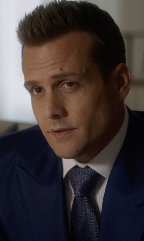 Gabriel Macht with Theory Satin Grid Skinny Tie in Suits
