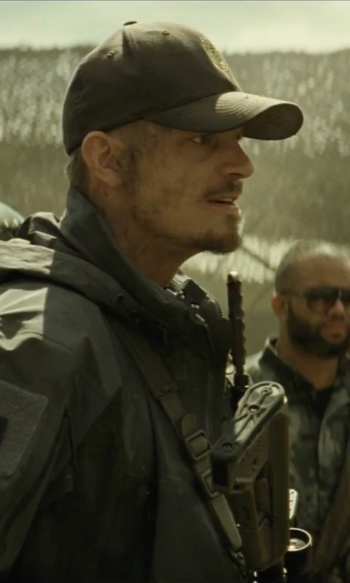 Joel Kinnaman with Huf Delivery Snapback Hat in Suicide Squad