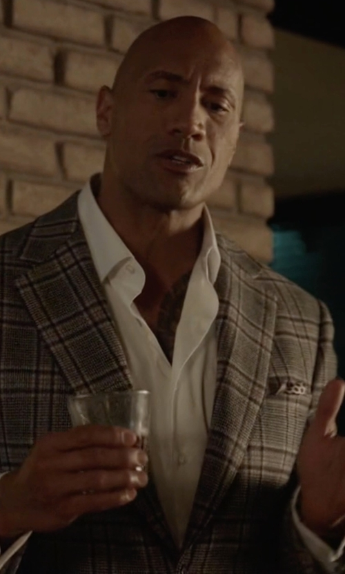 Dwayne Johnson with Richard James Cotton-Poplin Shirt in Ballers