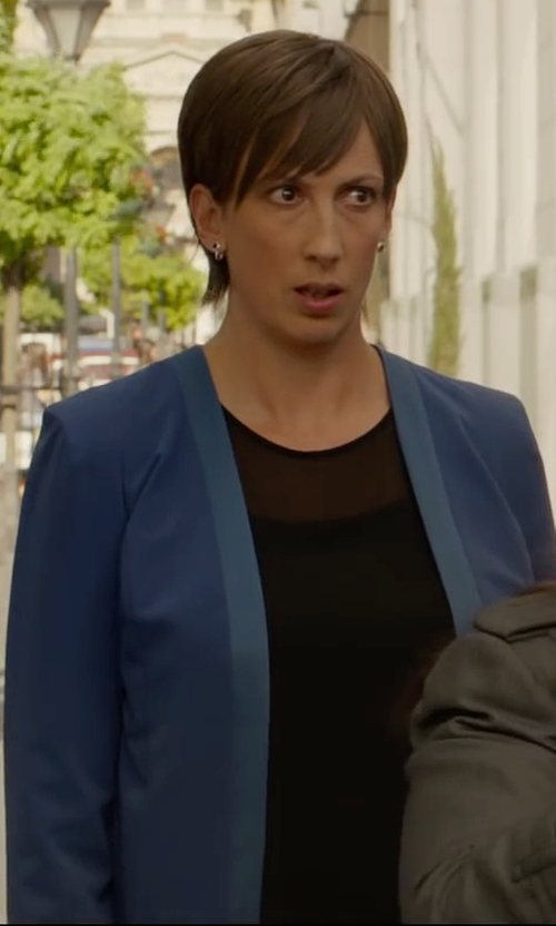 Miranda Hart with Helmut Lang	 Swift Semi-Sheer Dress in Spy