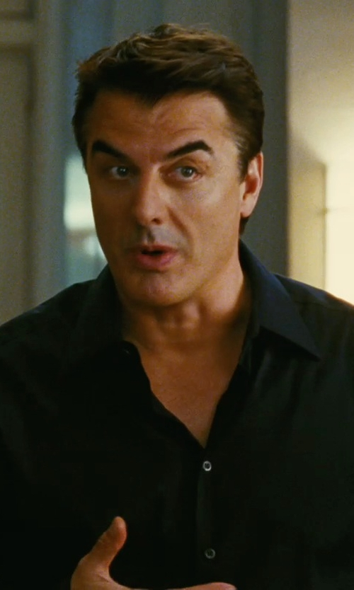 Chris Noth with Eton Contemporary Fit Solid Dress Shirt in Sex and the City