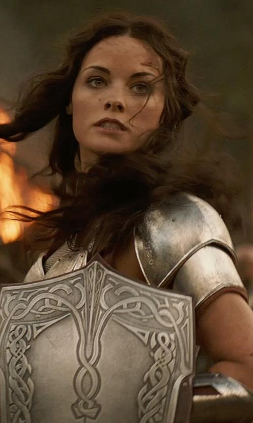 Jaimie Alexander with Wendy Partridge (Costume Designer) Custom Made Sif Costume in Thor: The Dark World