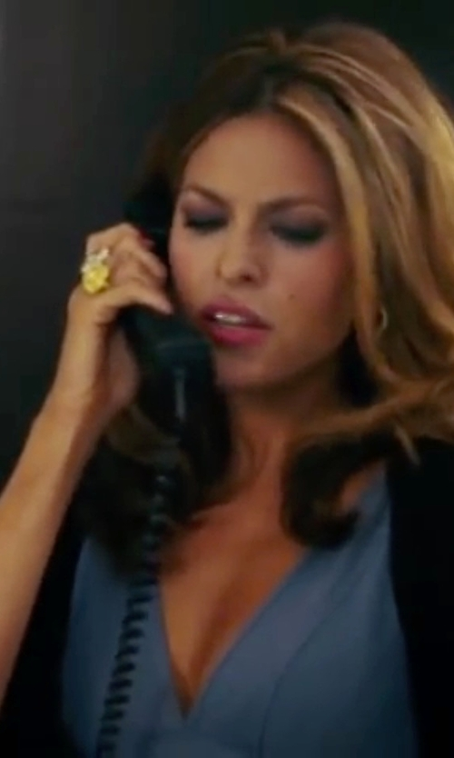 Eva Mendes with Stephanie Kantis Empress Blue Topaz Ring in The Women