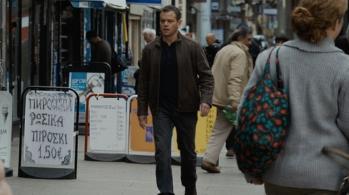 Matt Damon with Levi's 513 Denim Blue Jeans in Jason Bourne
