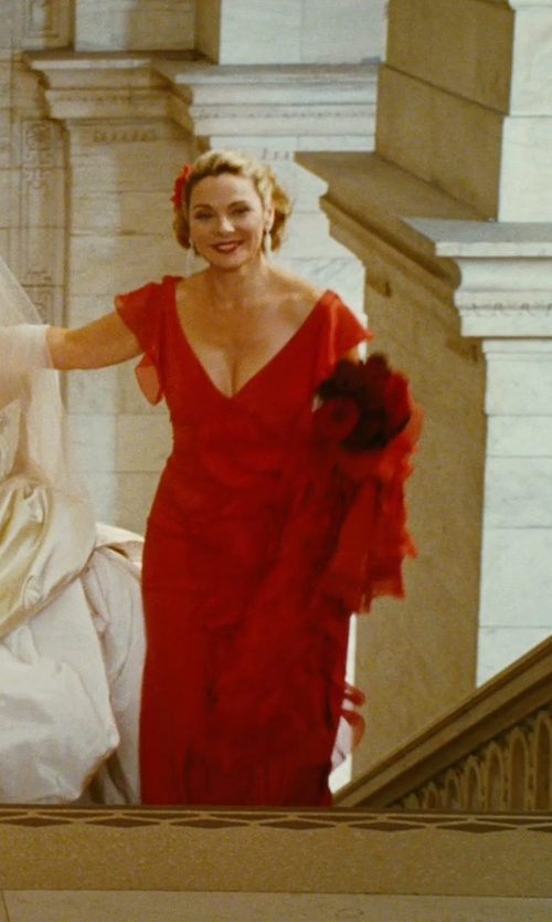 Kim Cattrall with Dulken & Derrick Silk Flower Hair Clip in Sex and the City