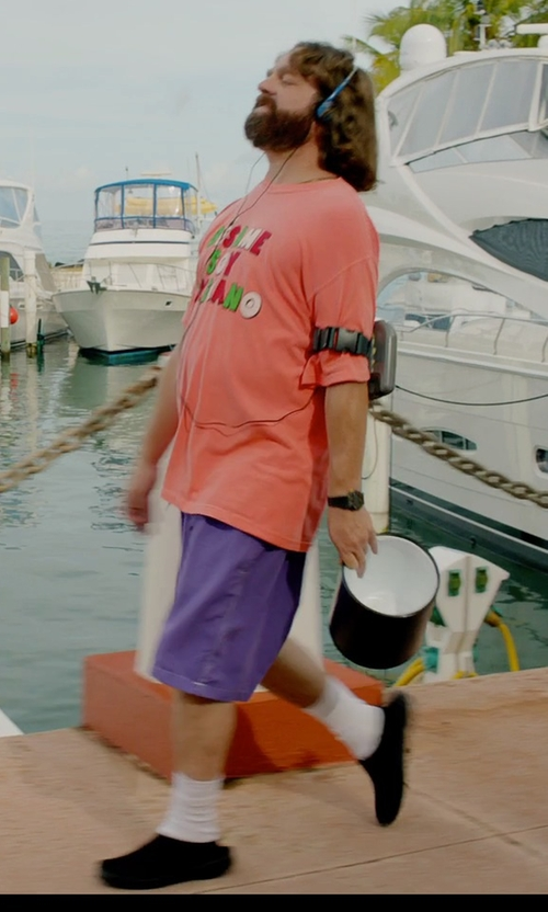 Zach Galifianakis with Vineyard Vines Classic Summer Club Shorts in Masterminds