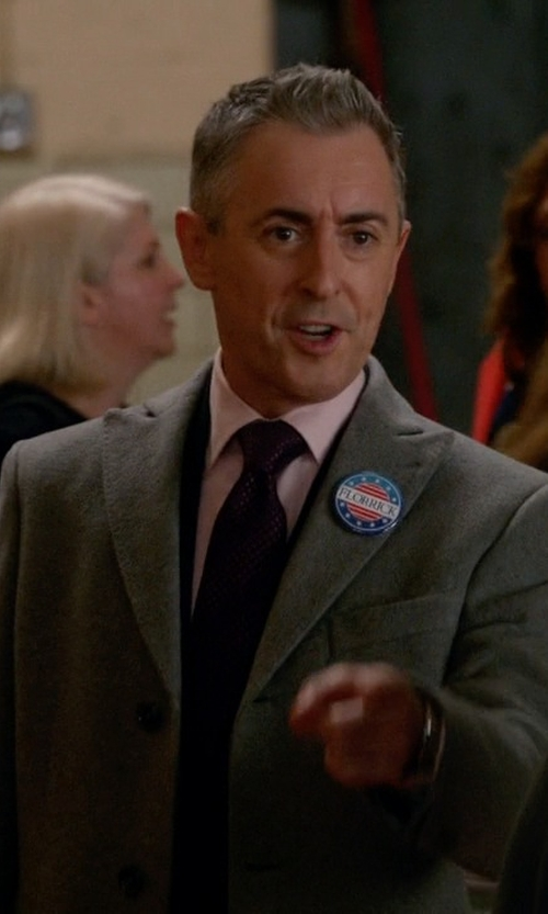 Alan Cumming with Neil Barrett   Single Breasted Coat in The Good Wife