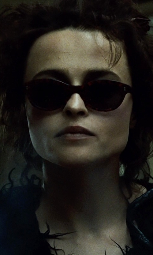 Helena Bonham Carter with Electric Detriot Wayfarer Sunglasses in Fight Club
