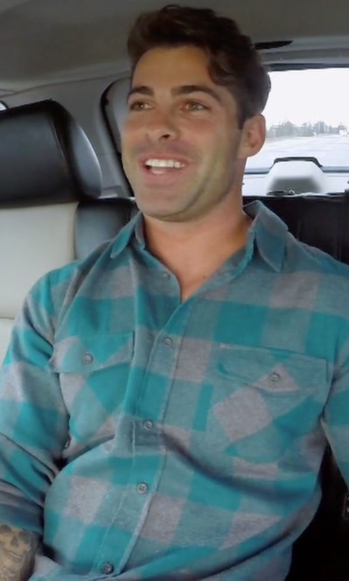 Alex with John Varvatos Star USA  Check Roll-Tab Sport Shirt in The Bachelorette