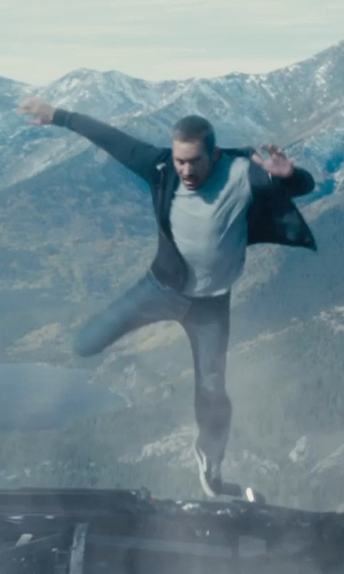 Paul Walker with A.P.C. New Standard Washed Pants in Furious 7