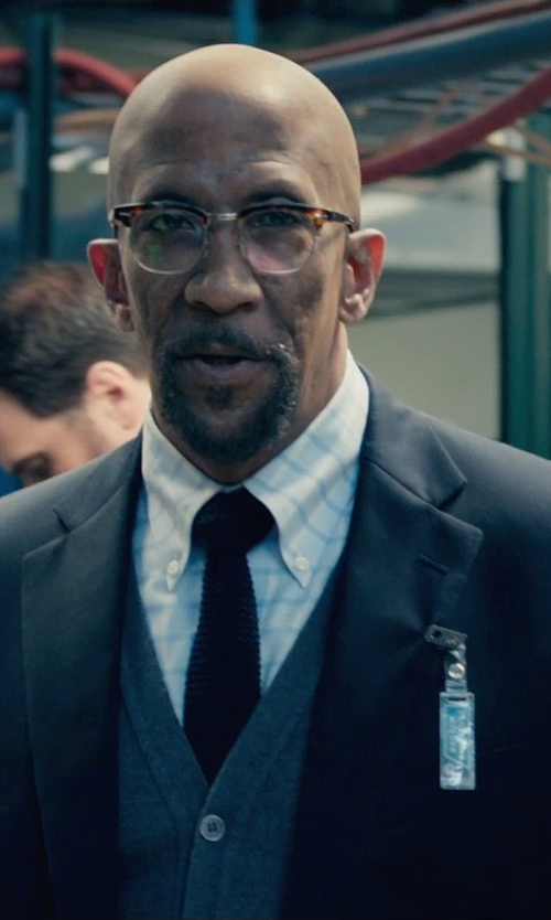 Reg E. Cathey with Steven Alan Classic Collegiate Button Down Shirt in Fantastic Four