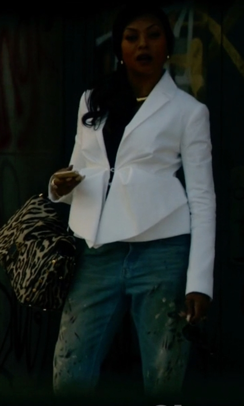 Taraji P. Henson with DSquared2 Distressed Skinny Jeans in Empire