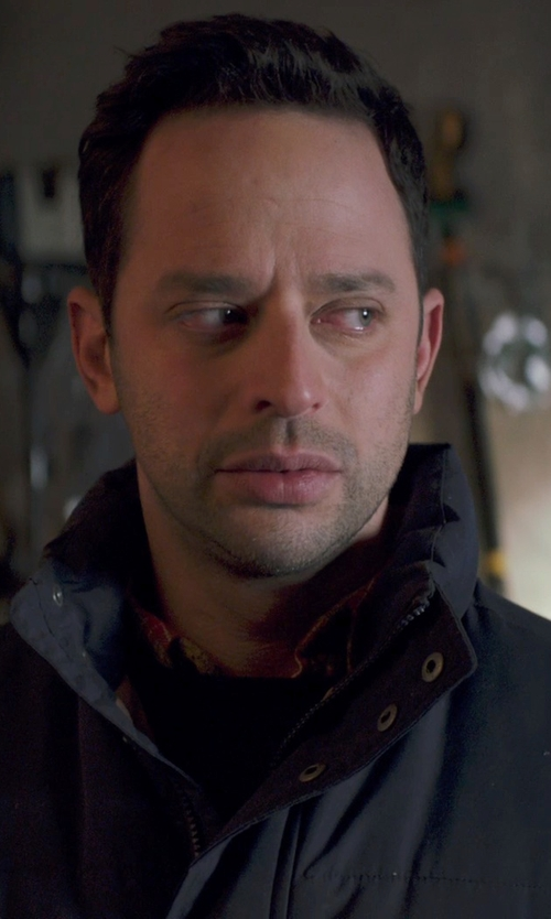 Nick Kroll with Guess Coats Quilted Down Moto Jacket in Adult Beginners