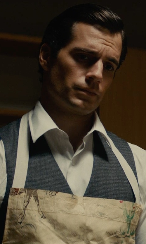 Henry Cavill with Ralph Lauren Broadcloth Dress Shirt in The Man from U.N.C.L.E.