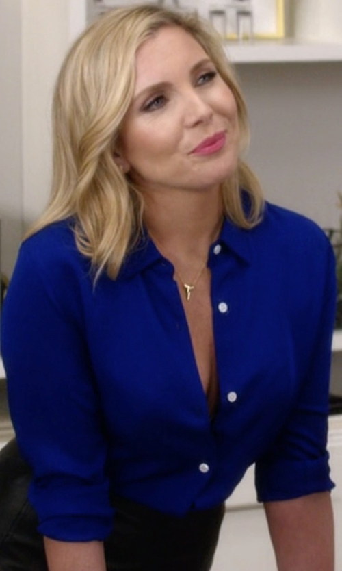 June Diane Raphael with Lafayette 148 New York Brody Long-Sleeve Poplin Blouse in Grace and Frankie