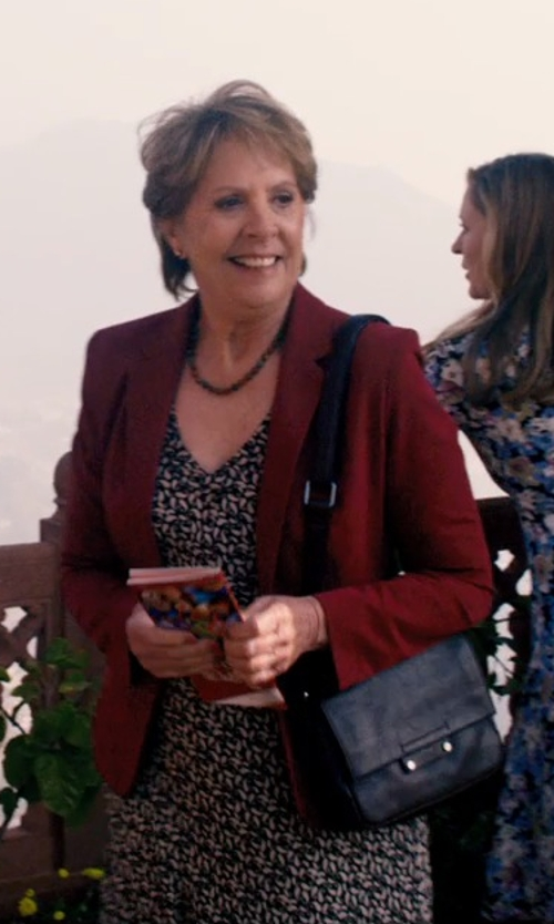 Penelope Wilton with Max Mara Ercole Confetti-Print Sheath Dress in The Second Best Exotic Marigold Hotel
