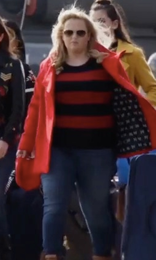 Rebel Wilson with Agolde Roxanne Super High Rise Skinny Jeans in Pitch Perfect 3