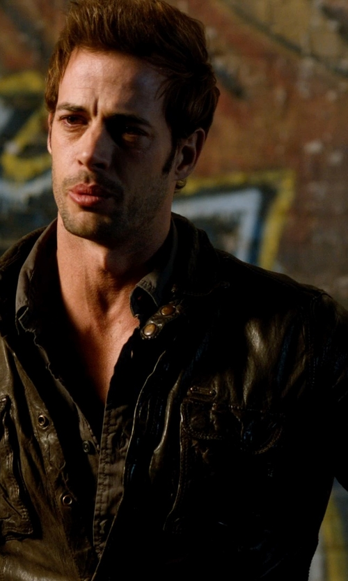 William Levy with Tommy Hilfiger Leather Moto Jacket in Addicted