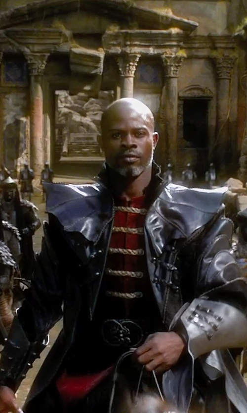 Djimon Hounsou with Jacqueline West (Costume Designer) Custom Made Radu Costume in Seventh Son
