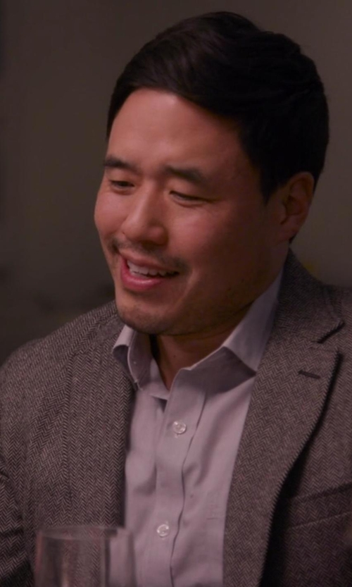 Randall Park with Asos Slim Tweed Suit Jacket in Chelsea