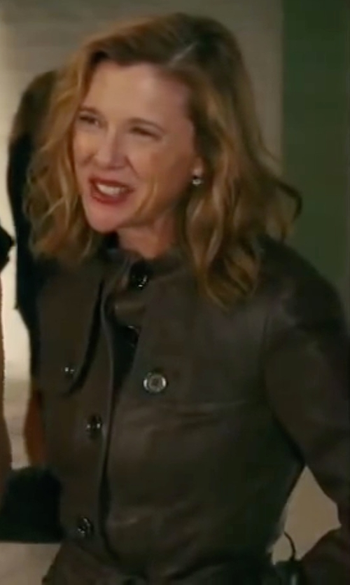 Annette Bening with Yves Saint Laurent Vintage Classic Trench Coat in The Women