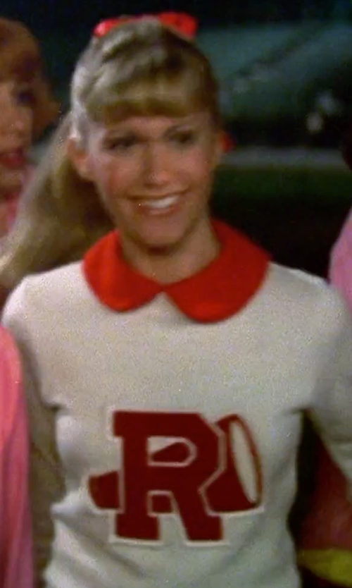 Olivia Newton-John with Leg Avenue Rydell High Cheerleader Costume in Grease