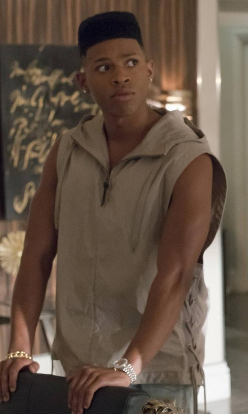 Bryshere Y. Gray with Hudson  Sleeveless Hoodie in Empire