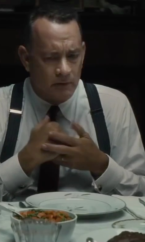 Tom Hanks with Porsche Design Half-rim Titanium Eyeglasses in Bridge of Spies