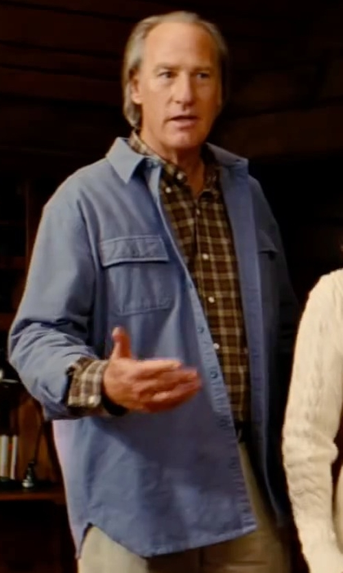 Craig T. Nelson with Our Legacy Men's Long Sleeve Denim Shirt in The Proposal
