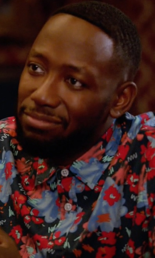 Lamorne Morris with Levi's Floral-Print Short-Sleeve Shirt in New Girl