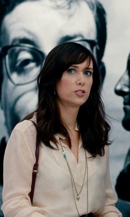 Kristen Wiig with A.P.C. Blouse in The Secret Life of Walter Mitty