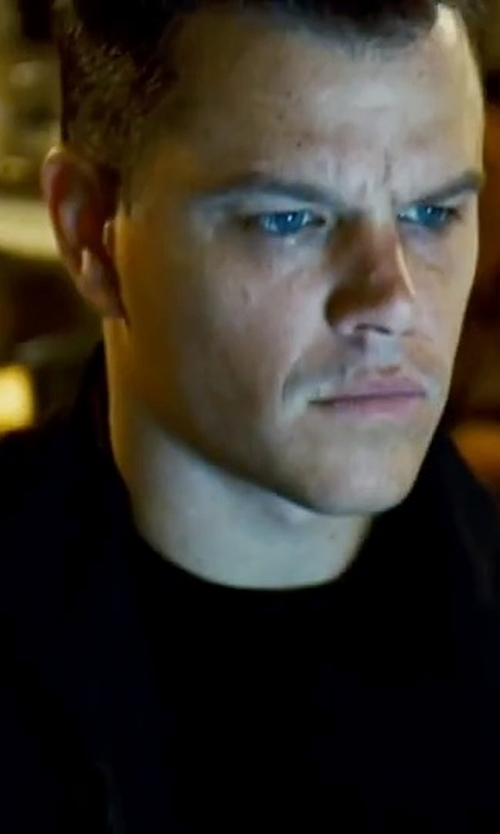 Matt Damon with Hugo 'Smudor' Virgin Wool Sweater in The Bourne Ultimatum
