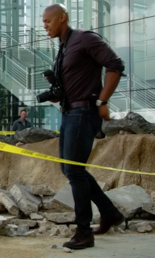 Mehcad Brooks with Johnston & Murphy Tilden Oxford Shoes in Supergirl