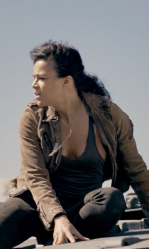 Michelle Rodriguez with Acne Studios Lacey Black Skin 5 Jeans in Fast & Furious 6