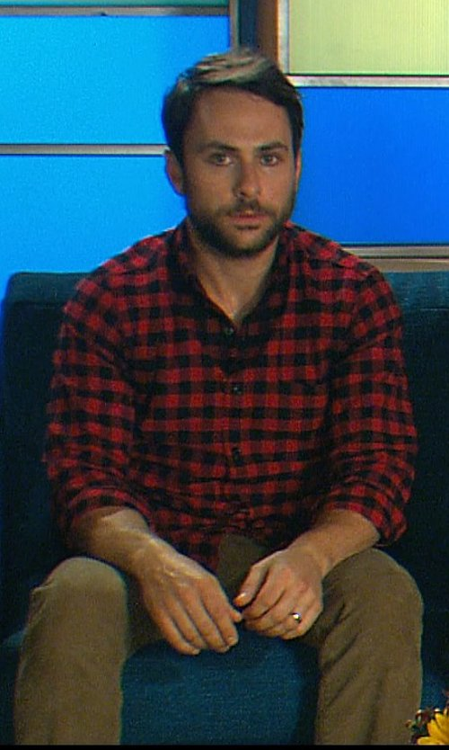 Charlie Day with Dockers Men's Alpha Khaki Cord Stretch Pant in Horrible Bosses 2