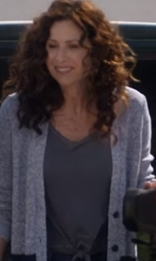Minnie Driver with Enza Costa Stretch-Jersey T-Shirt in Speechless