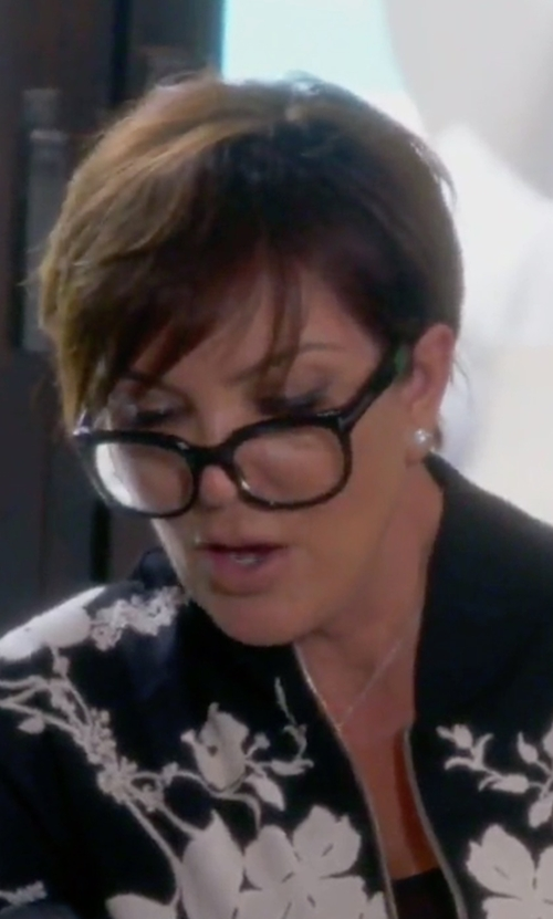 Kris Jenner with Tom Ford Rounded Square Optical Frames in Keeping Up With The Kardashians