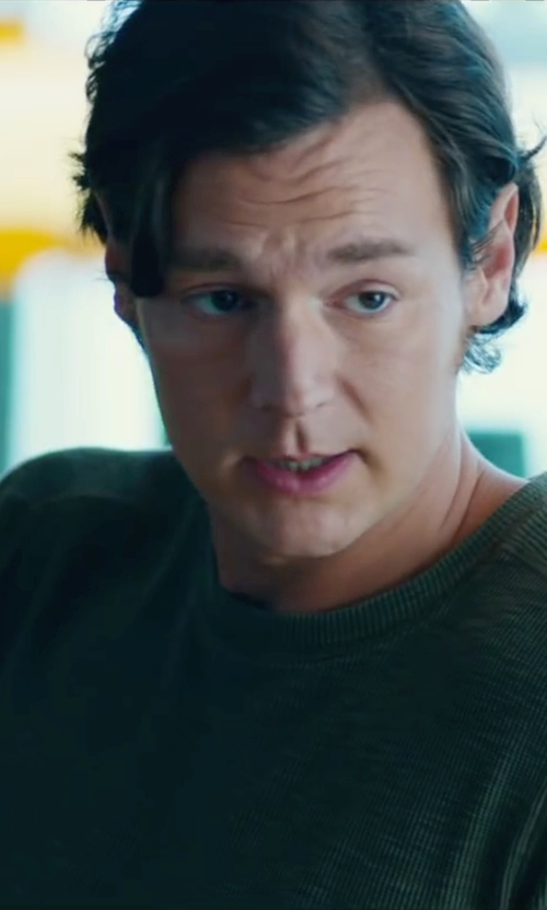 Benjamin Walker with Topman Chunky Rib Knit Crewneck Sweater in The Choice