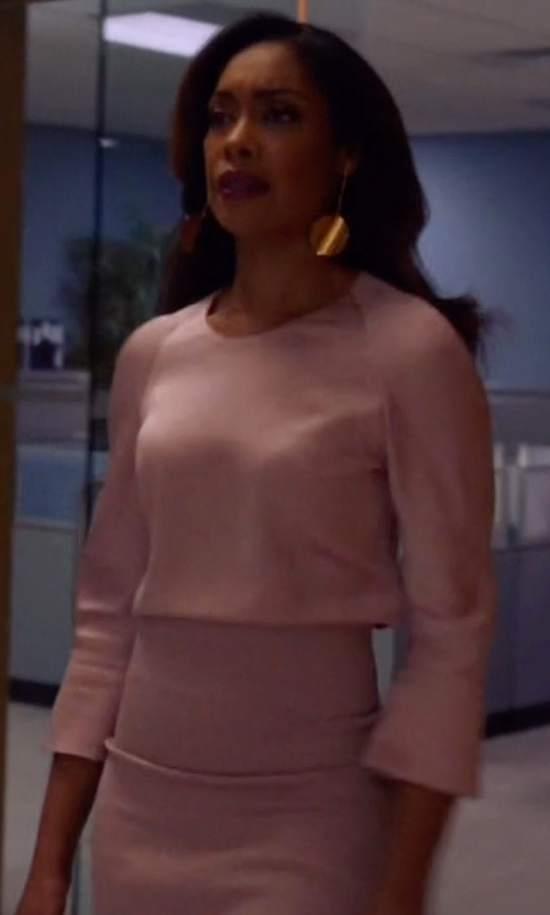 Gina Torres with Alice + Olivia Morena Skirt in Suits
