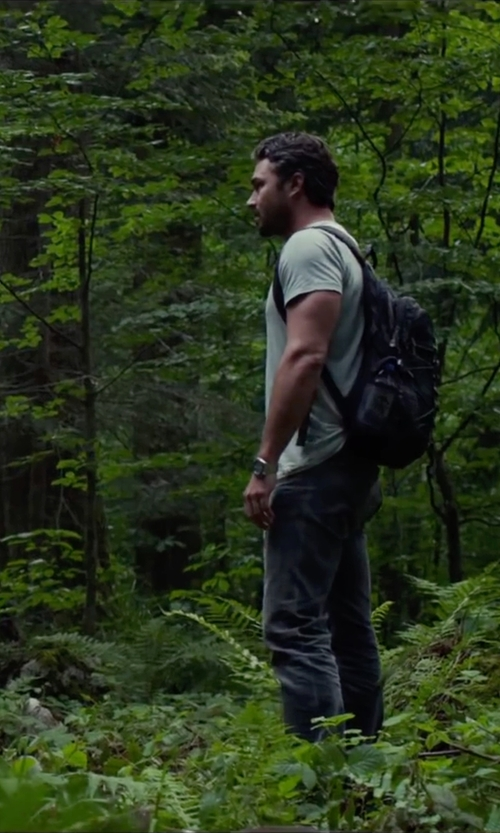 Taylor Kinney with Rag & Bone Basic Tee in The Forest