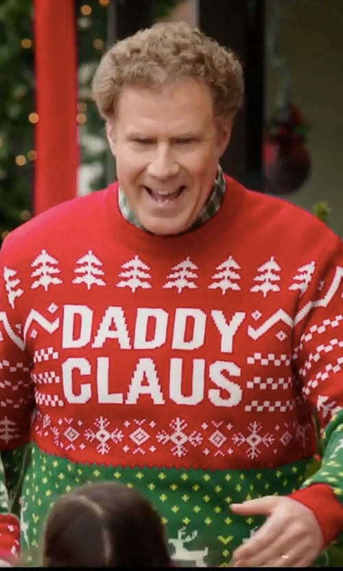 Will Ferrell with DC Ugly Xmas Sweater in Daddy's Home 2