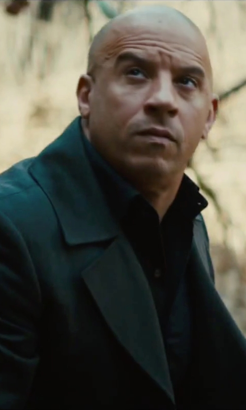 Vin Diesel with Saks Fifth Avenue Collection Wool Car Coat in The Last Witch Hunter
