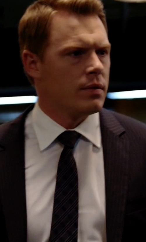 Diego Klattenhoff with Lanvin Striped Tie in The Blacklist