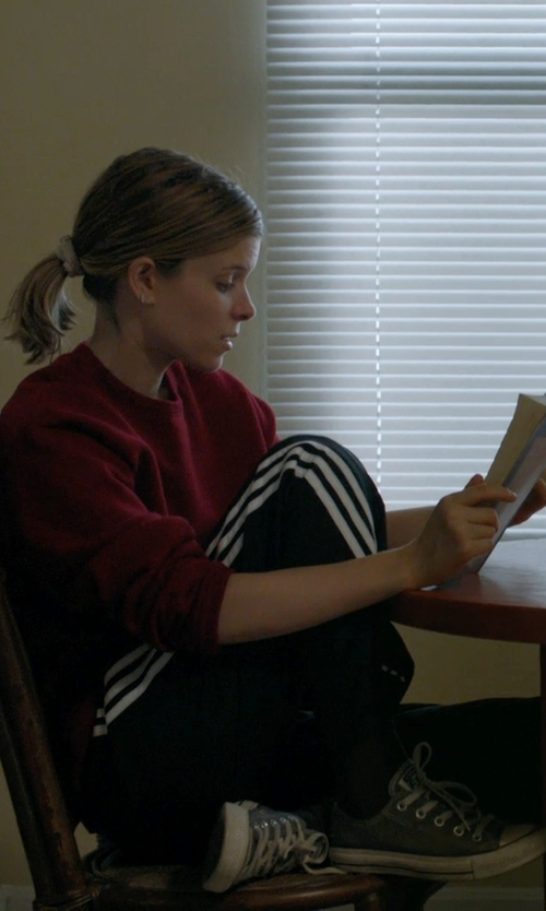 Kate Mara with Adidas Performance Three Stripes Pants in Captive