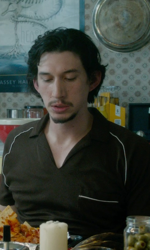 Adam Driver with Gramicci Hawkville Organic Polo Shirt in What If