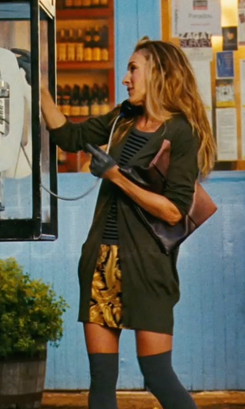 Sarah Jessica Parker with Nieves Lavi Printed Yellow Dress in Sex and the City