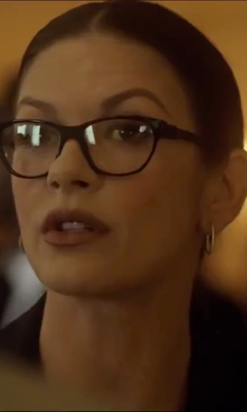 Catherine Zeta-Jones with Dior Contrast Coating Acetate Optical Glasses in Side Effects