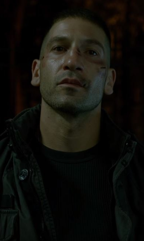 Jon Bernthal with Harrison Cashmere Knit Crewneck Sweater in Daredevil